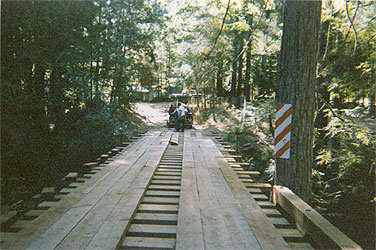 Flat Car Bridge With Decking